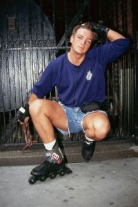 Nathan Fillion on Roller Blades