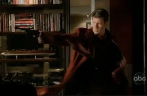 Castle Dressed as Captain Mal on Castle in Vampire Weekend Nathan Fillion