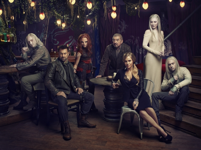 Tony Curran as Datak Tarr, Grant Bowler as Joshua Nolan, Stephanie Leonidas as Irisa, Graham Greene as Rafe McCawley, Julie Benz as Amanda Rosewater, Jaime Murray as Stahma Tarr and Jesse Rath as Alak Tarr in Defiance. Season 2 premieres Thursday, June 19 at 10pm ET/PT on Showcase.