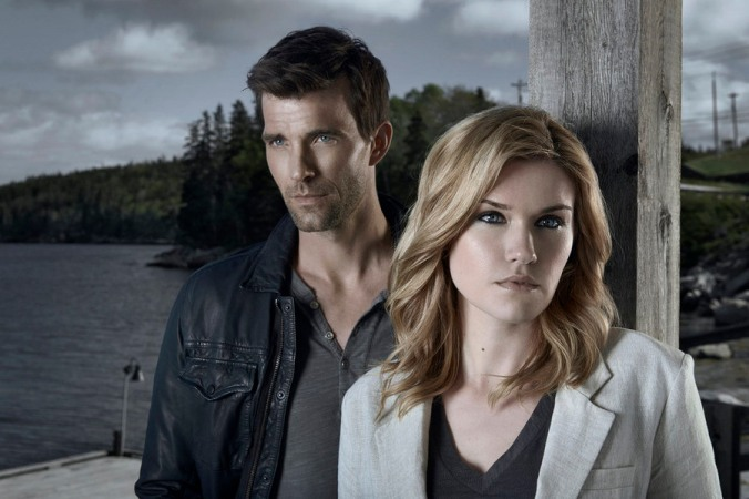 HAVEN -- Season:5 -- Pictured: (l-r) Lucas Bryant as Nathan Wuornos, Emily Rose as Audrey Parker -- (Photo by: Steven Wilkie/Syfy)