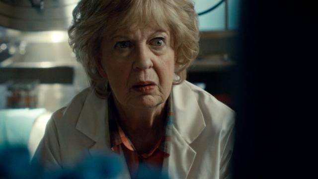 Jayne Eastwood as Gloria in Haven Speak No Evil