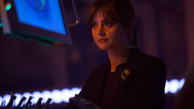"""Jenna Coleman as Clara Oswald in Doctor Who """"Listen"""""""