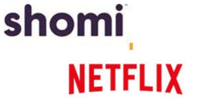 shomi + Netflix logos