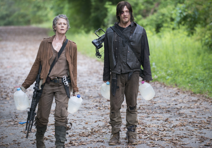 """Carol Peletier (Melissa McBride) and Daryl Dixon (Norman Reedus) in Episode 2  """"Strangers"""" The Walking Dead Photo by Gene Page/AMC"""